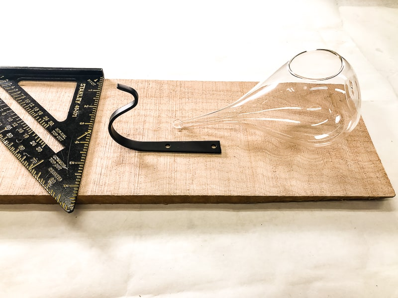 laying out parts of air plant holder on curly maple board