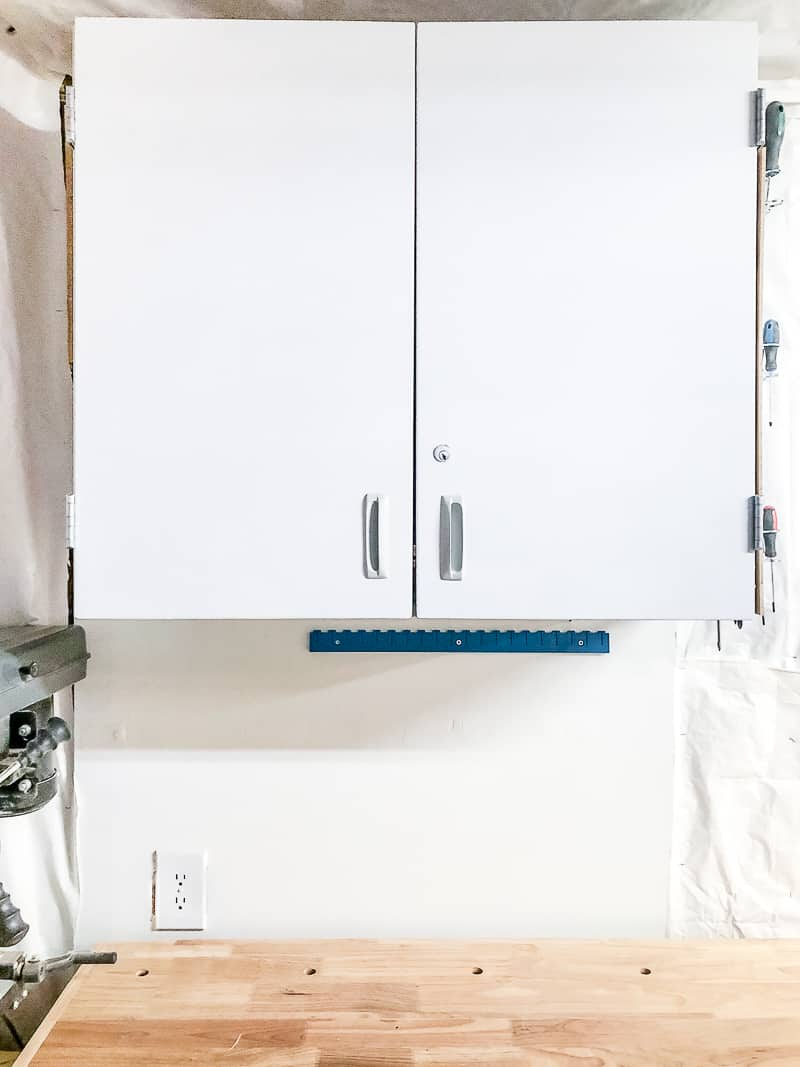 white contact paper on cabinet doors