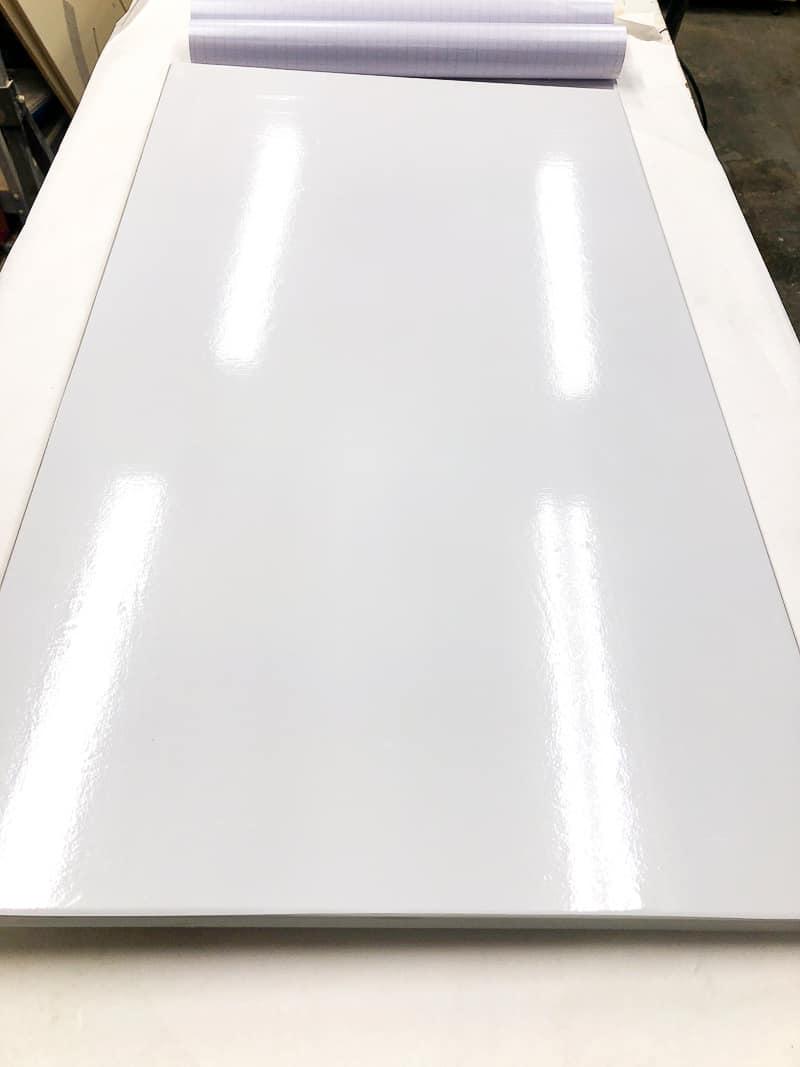 contact paper covering cabinet door