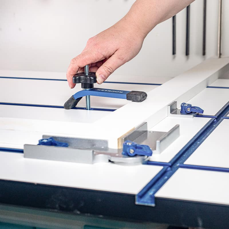 t track clamps on workbench top