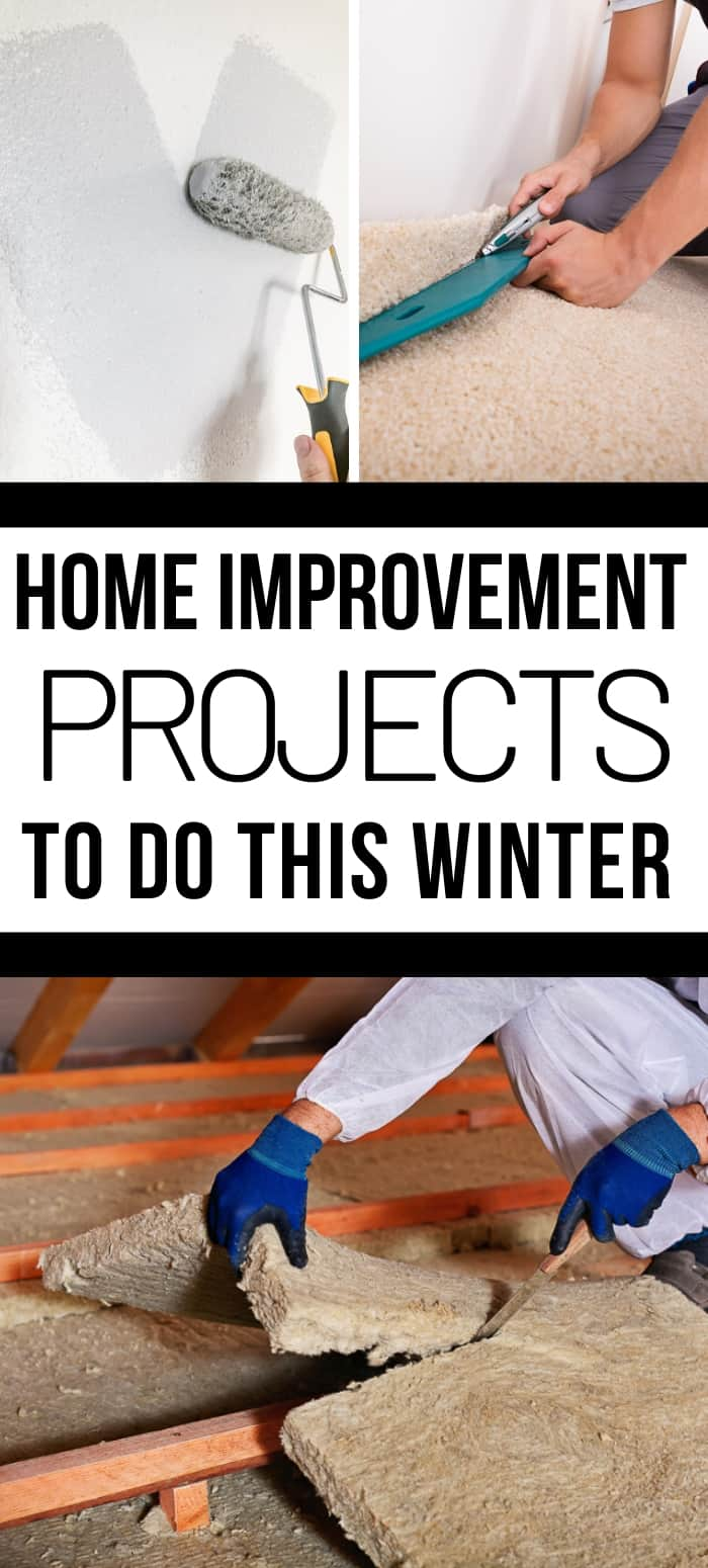 DIY home improvement projects to do this winter