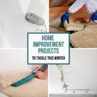 image collage of DIY home improvement projects