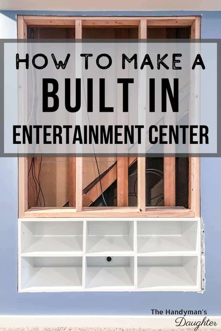 DIY built in entertainment center