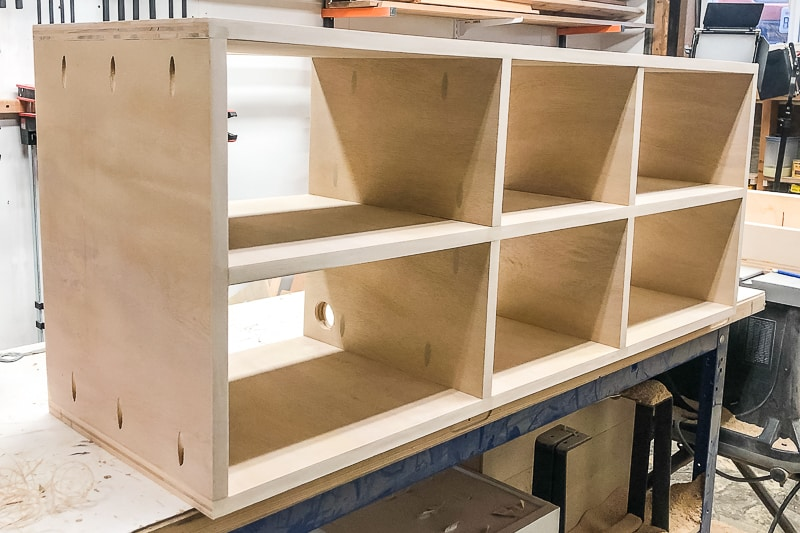 completed shelves ready for paint