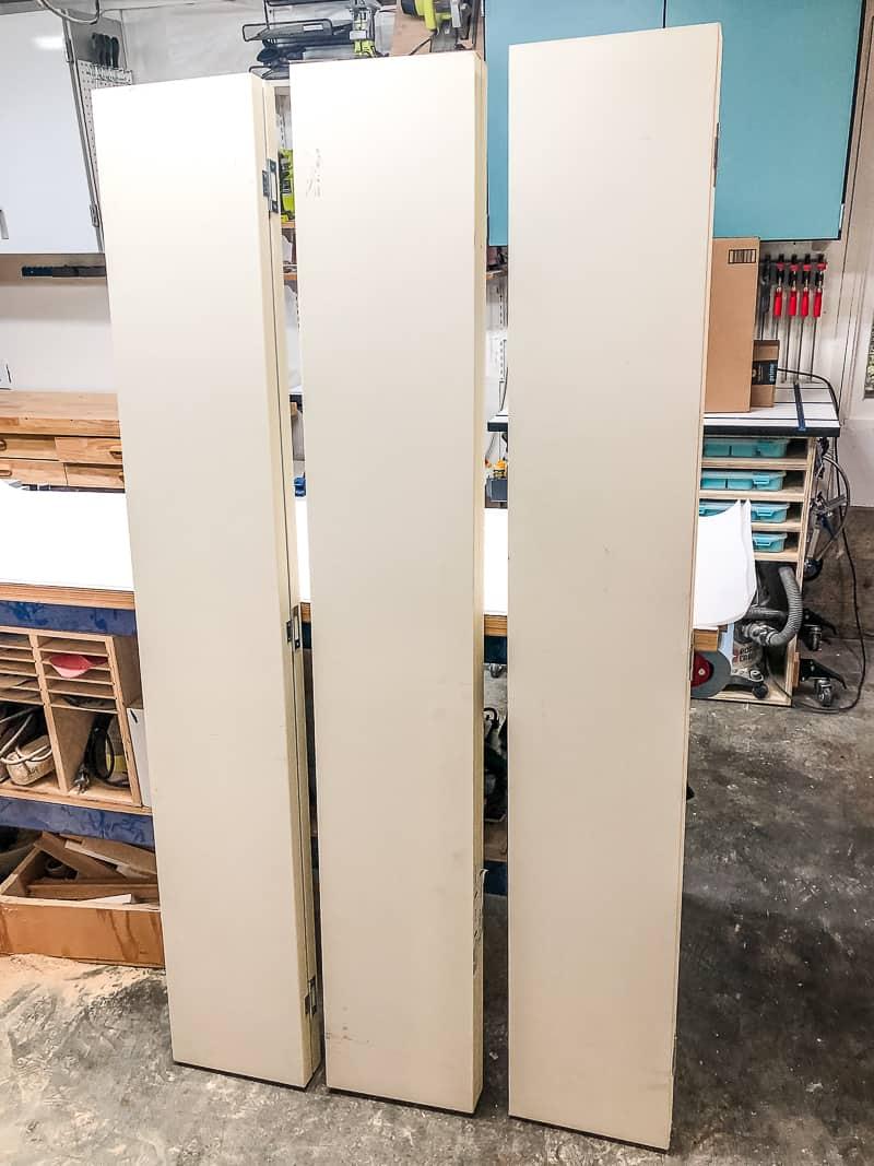 bifold doors in workshop