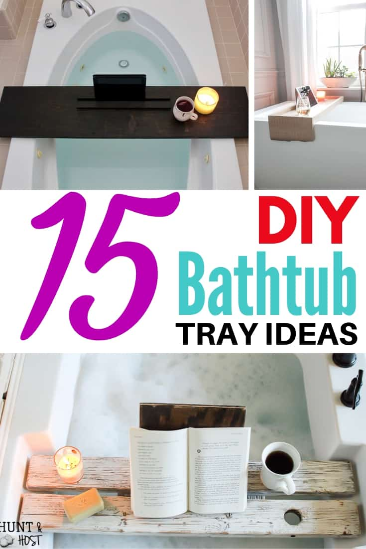 DIY bathtub tray ideas