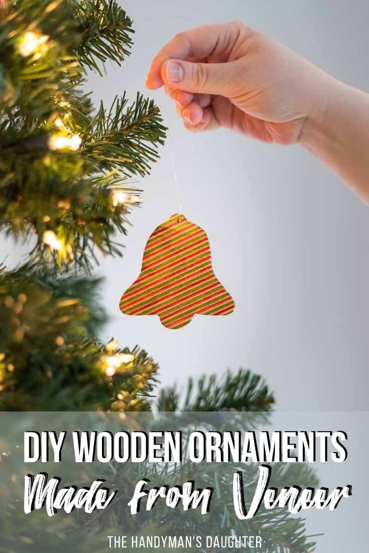 DIY wooden ornaments made from veneer