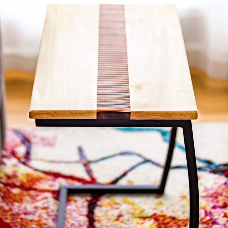 DIY laptop stand top on metal base