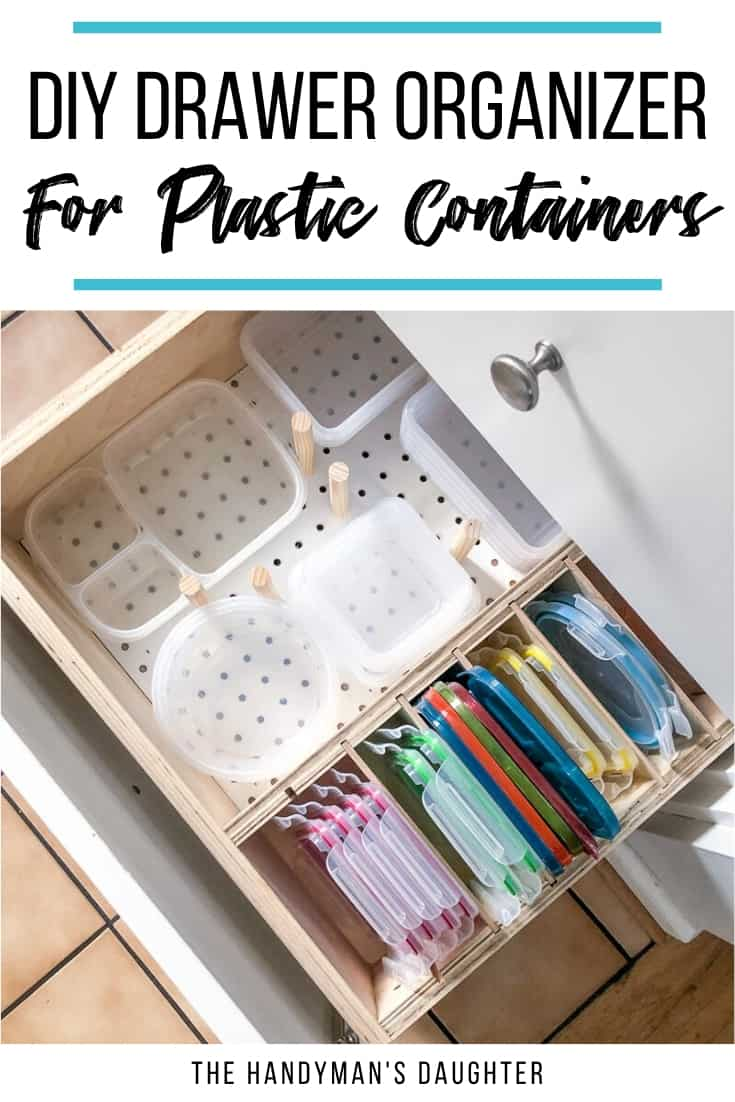 DIY Drawer Organizer for Plastic Containers