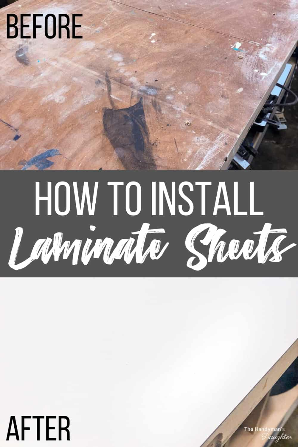 How to install laminate sheets before and after photos