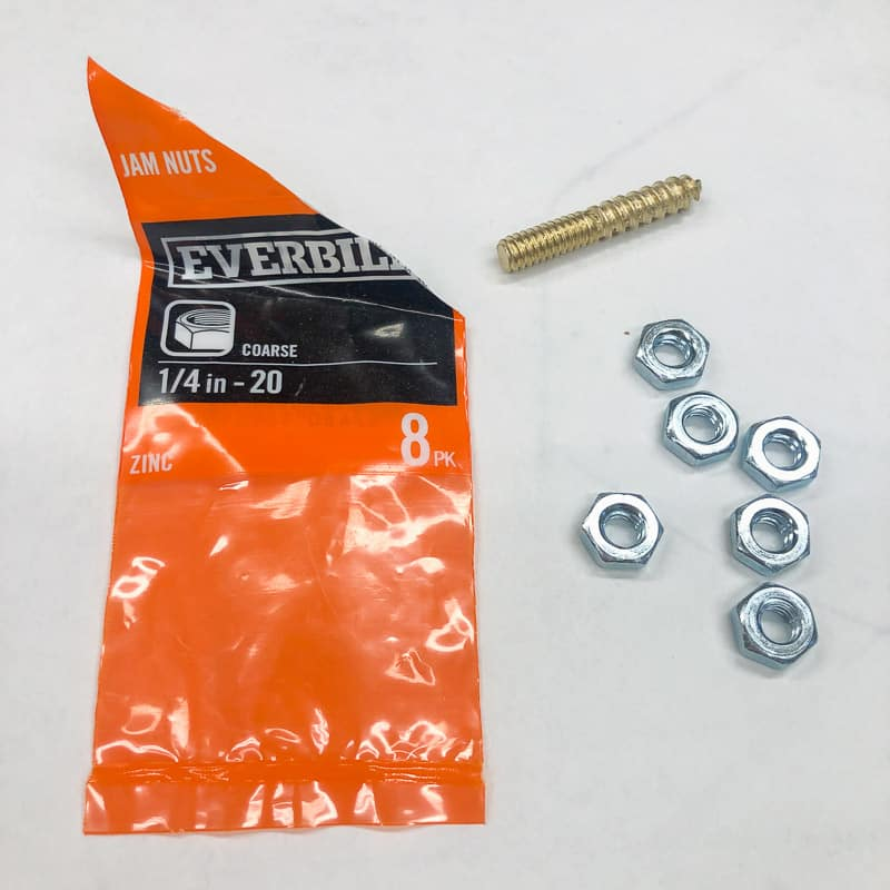 jam nuts and hanger bolt