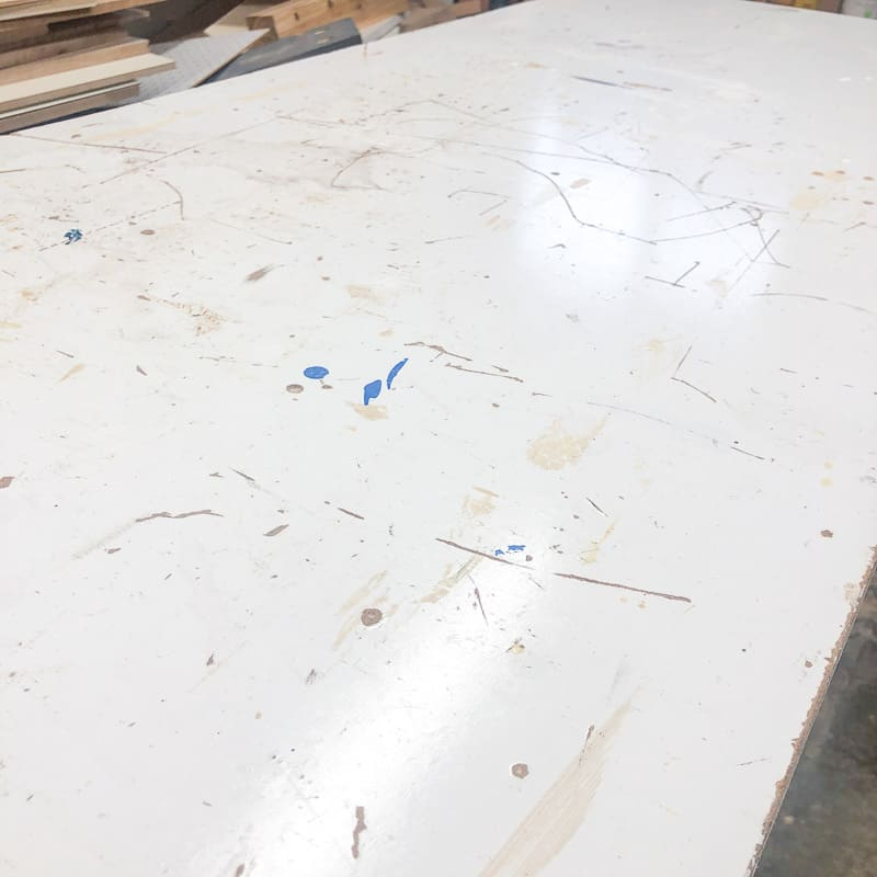 beat up workbench surface