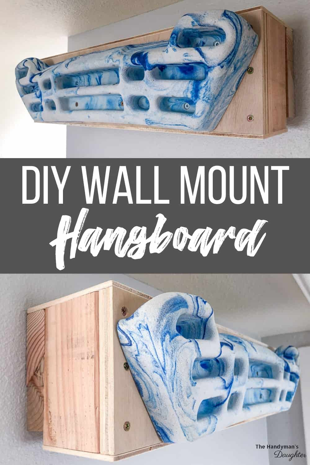 DIY hangboard mount for the wall