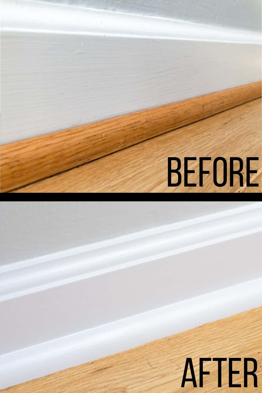 How to Paint Baseboards before and after