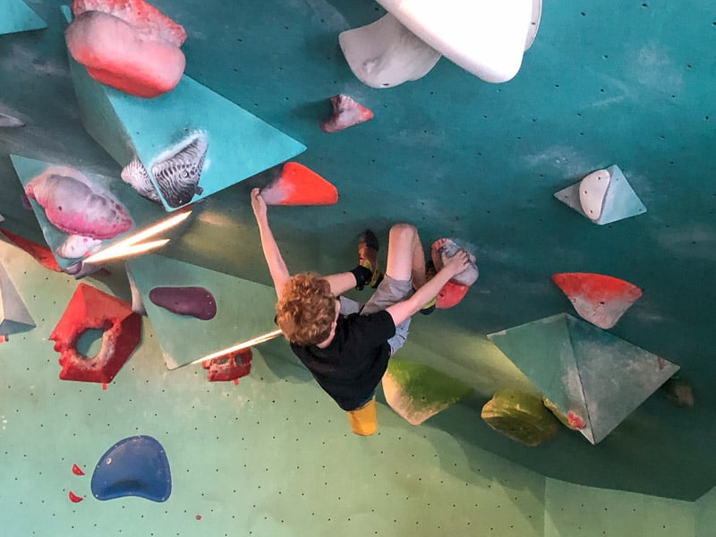 climbing at Seattle Bouldering Project