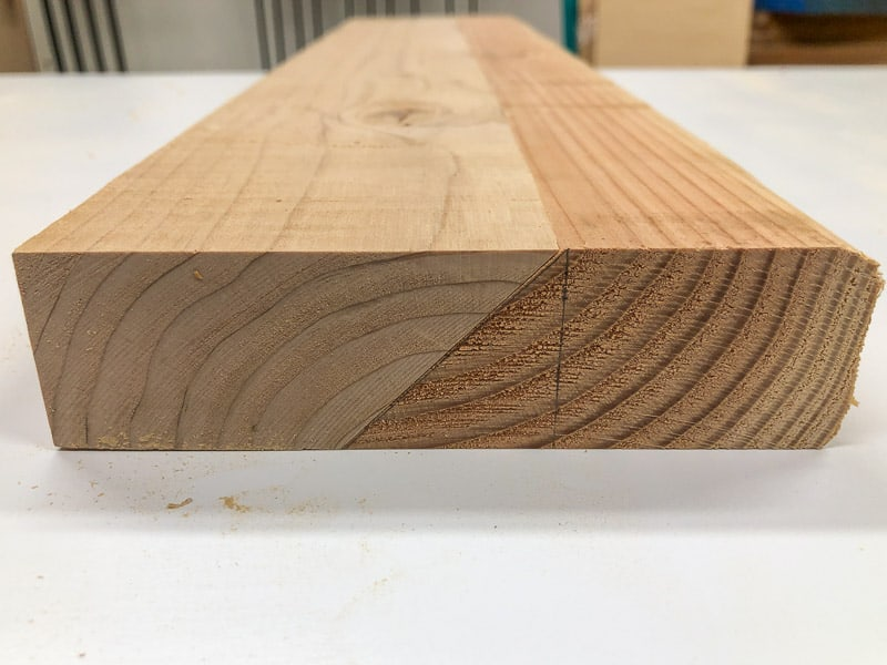 French cleat made with 2x4s