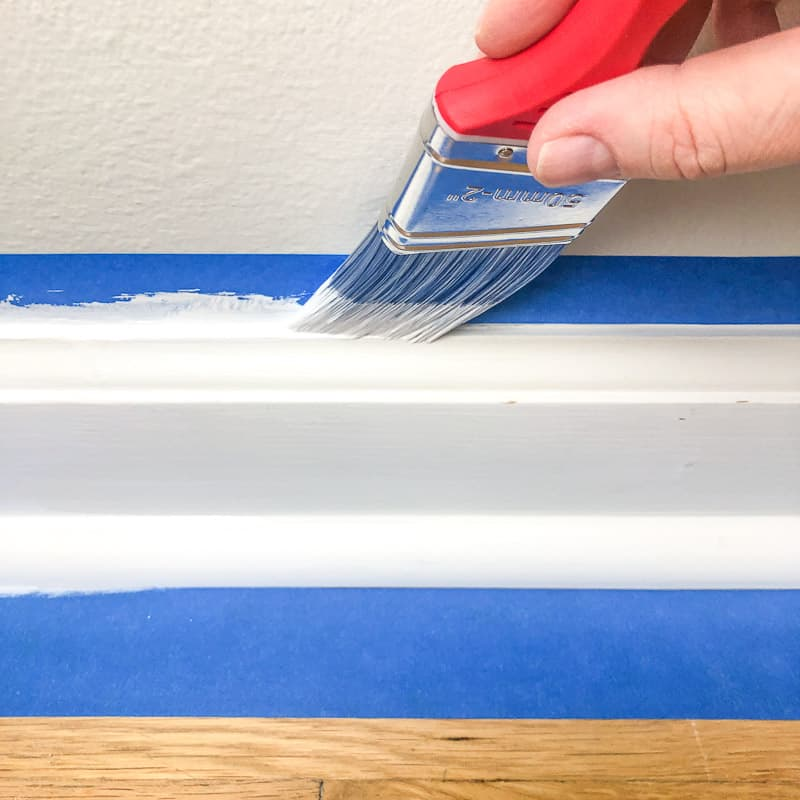 painting the top edge of baseboards