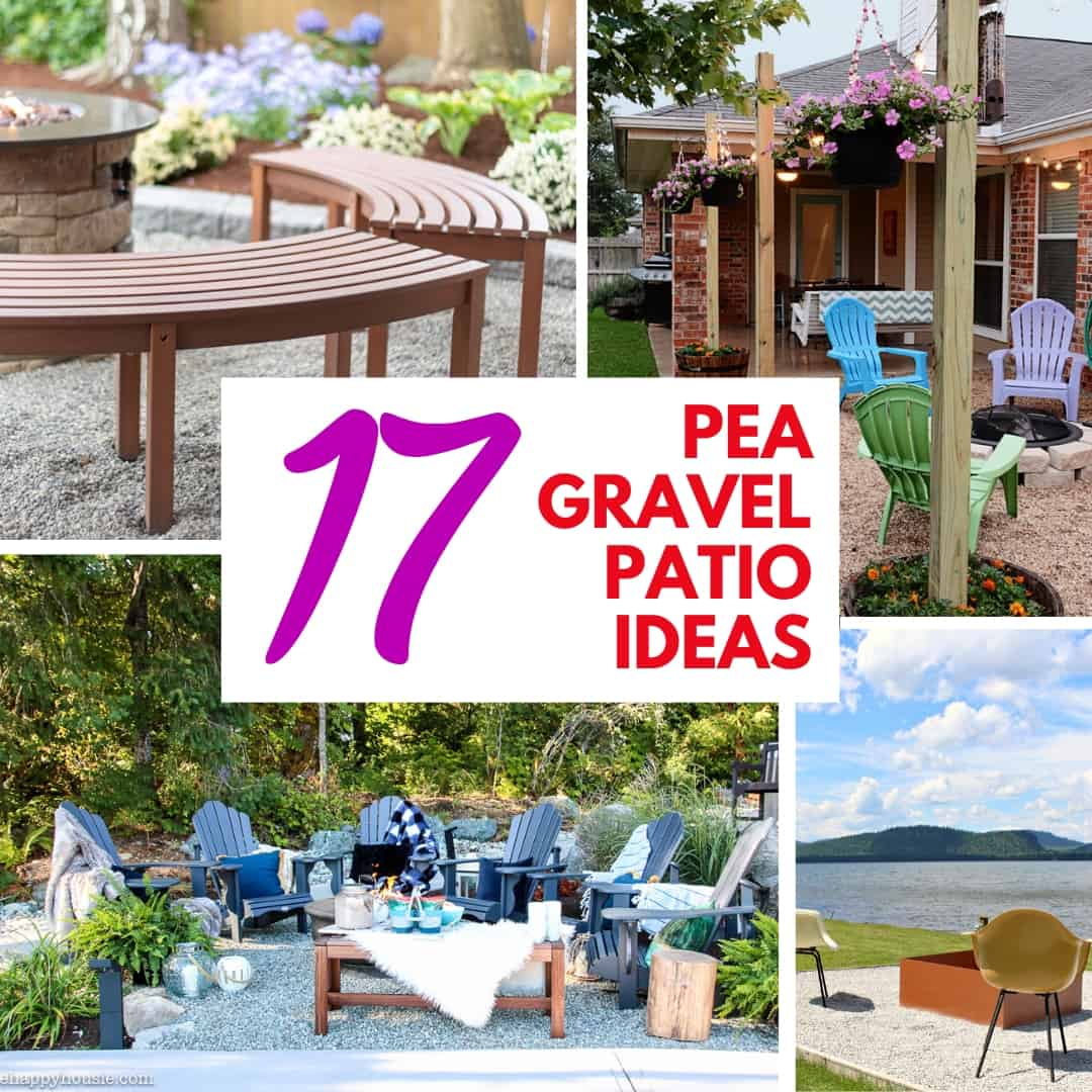 17 pea gravel patio ideas square collage
