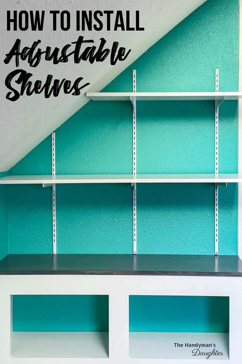 How to Install Adjustable Wall Mounted Shelving