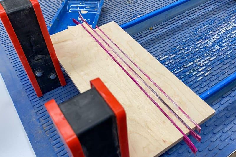 Final glue up of DIY wood coasters