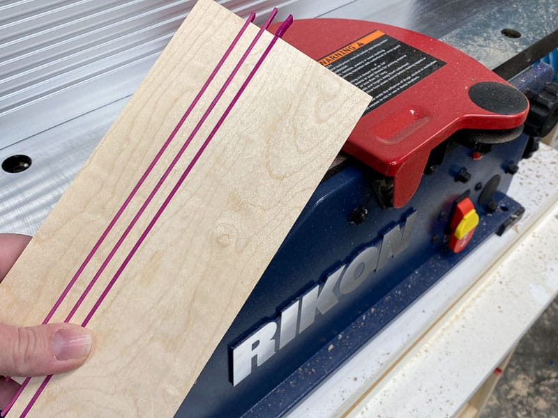 DIY wood coaster with clean stripes after running it through a jointer