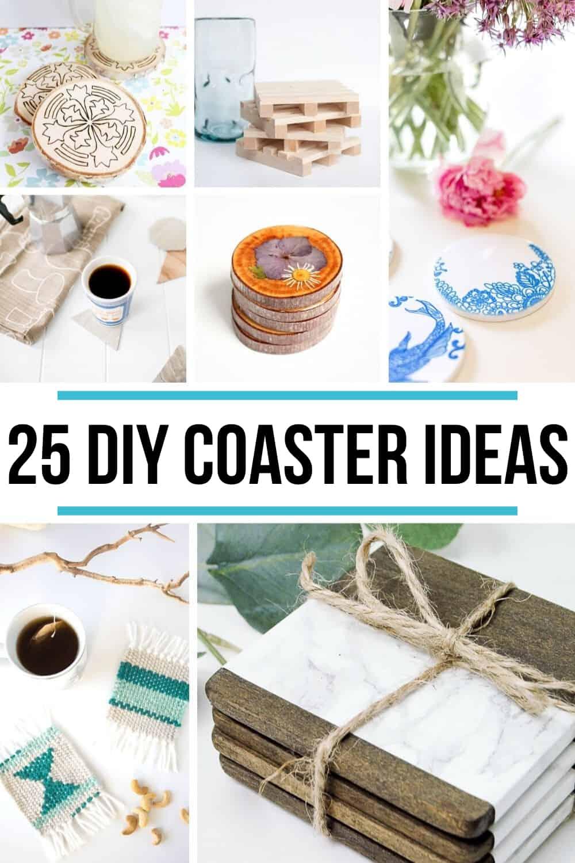 25 DIY Coasters collage