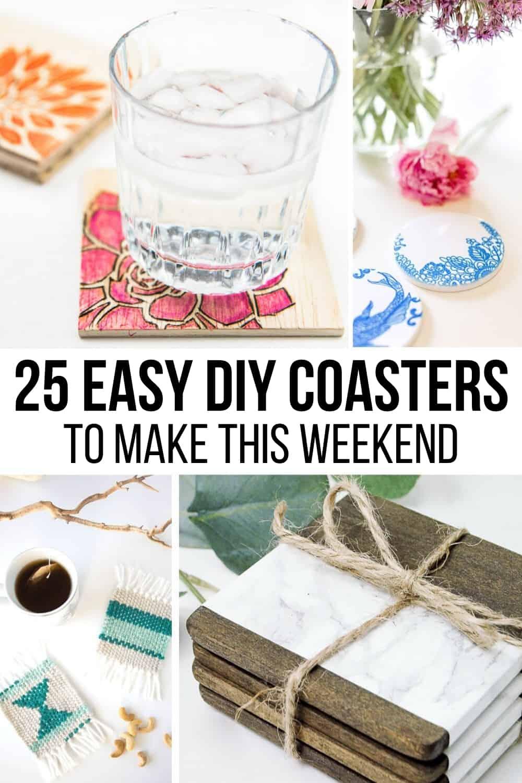 25 easy DIY coasters to make this weekend