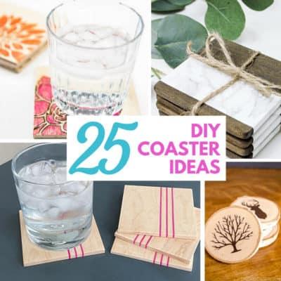 25 DIY Coaster Ideas
