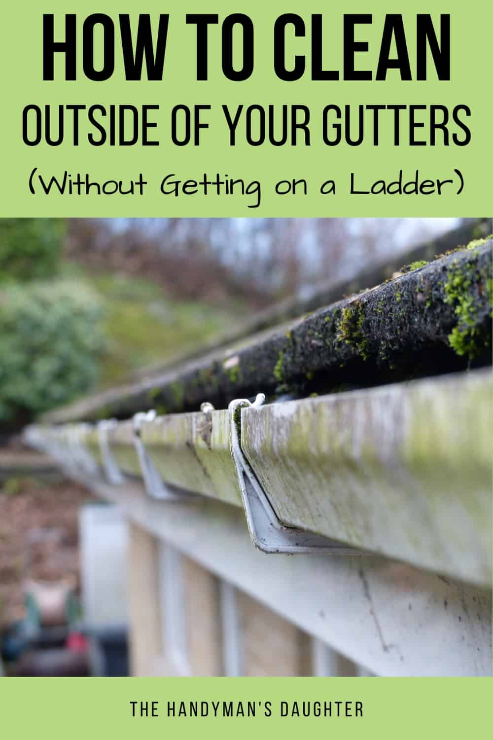 How to clean outside of gutters