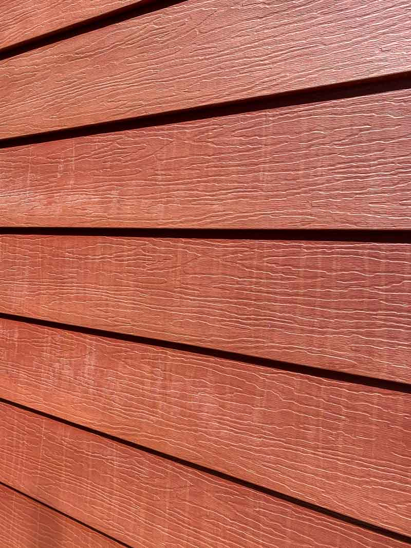 streaks and haze on siding from gutter cleaner