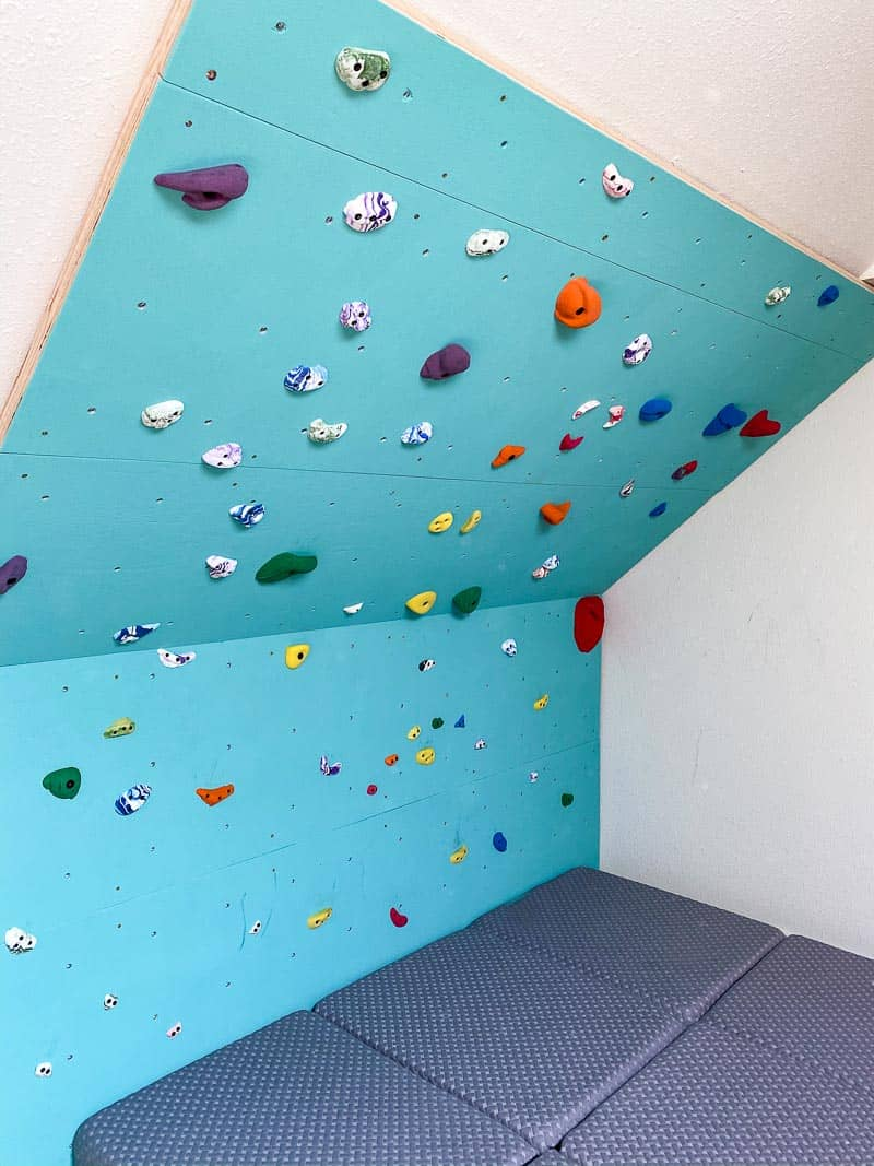 climbing wall built with C/D grade plywood