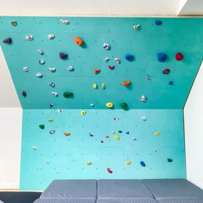DIY indoor climbing wall