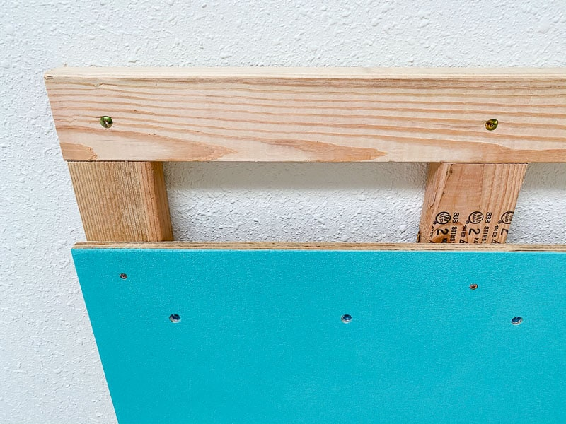 climbing wall panel attached to frame