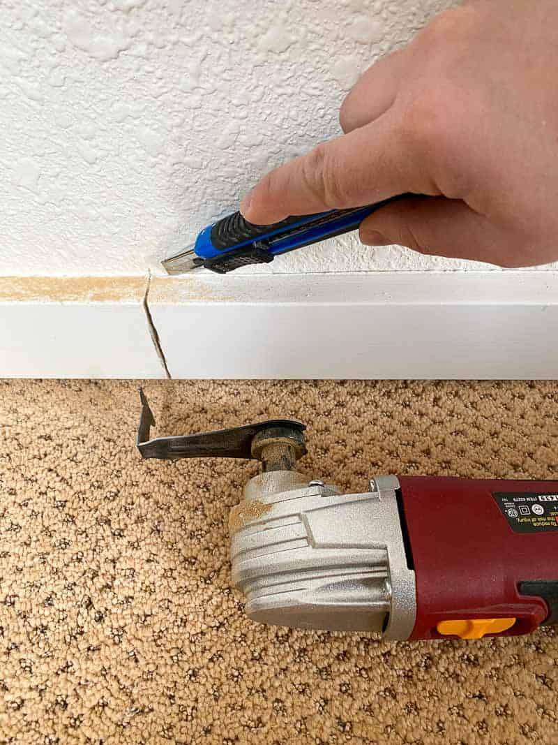 removing baseboards before installing climbing wall