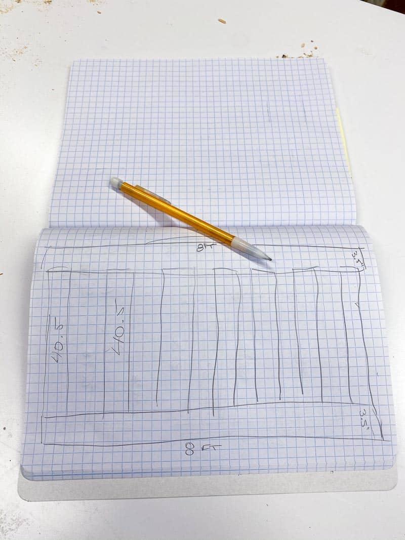 sketch of climbing wall frame