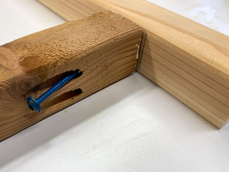 Attach planter legs to frame with pocket hole screws