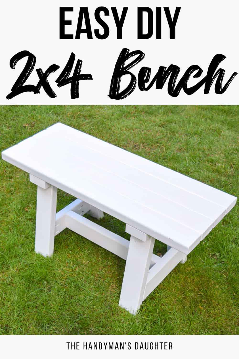easy DIY 2x4 bench with free plans