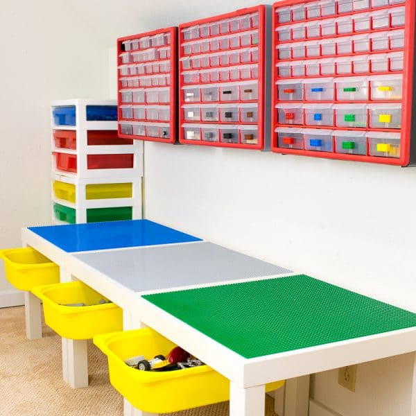 DIY Lego table with storage