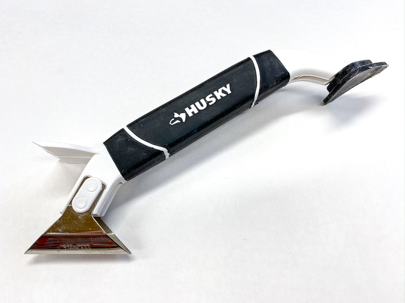 caulk smoothing and scraping tool