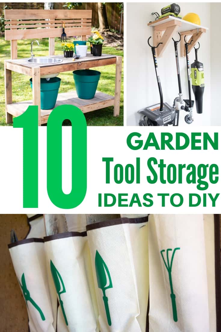garden tool storage ideas