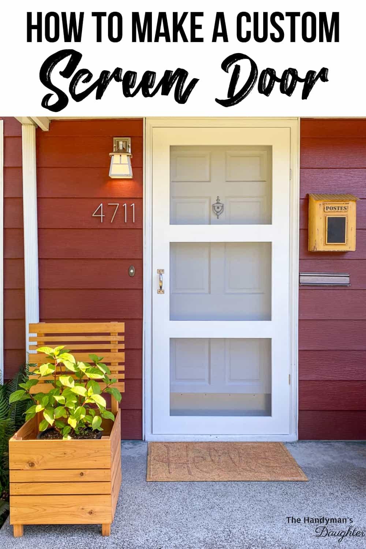 How to make a screen door