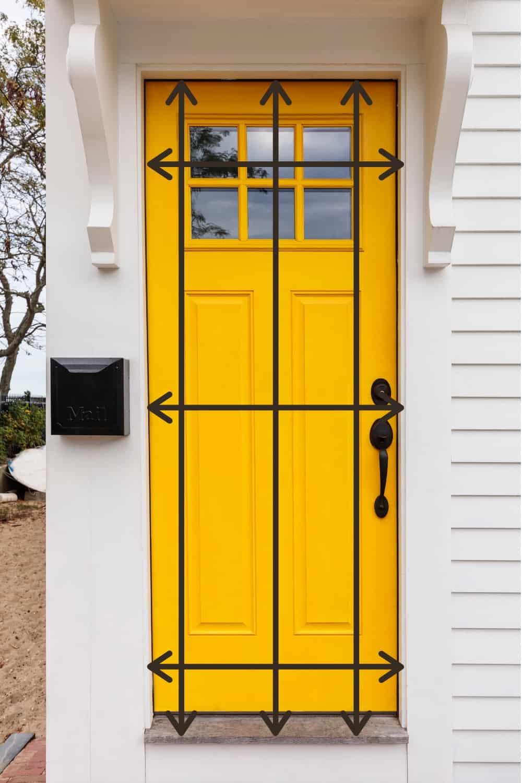 how to measure a door opening for a screen door