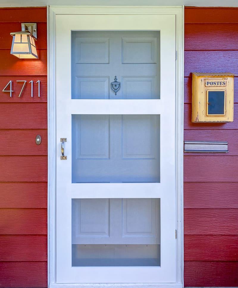 DIY screen door in front door of house
