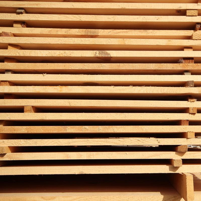 stickered lumber storage