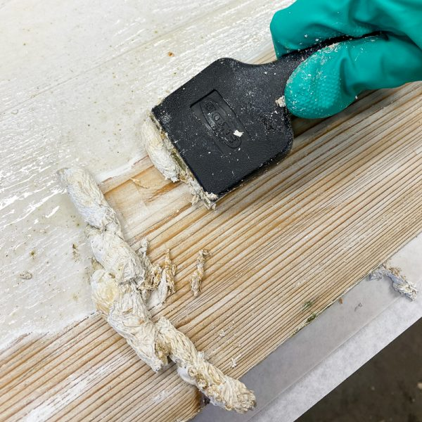 stripping paint from wood