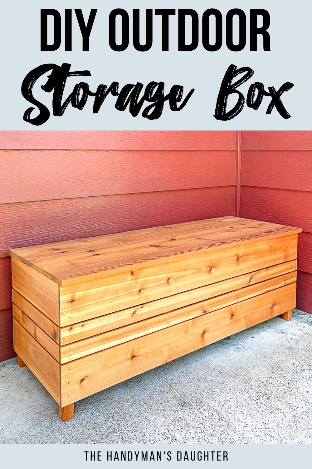 DIY outdoor storage box with plans