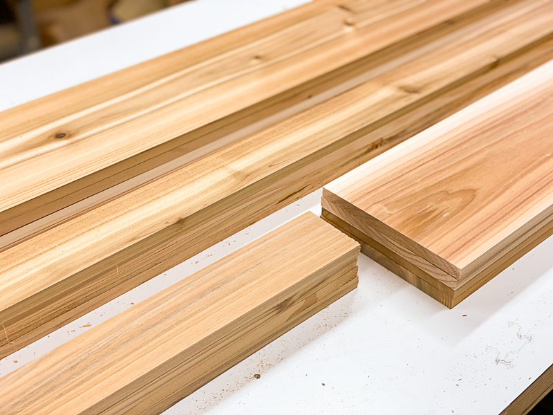 cedar fence pickets cut to size for outdoor storage box
