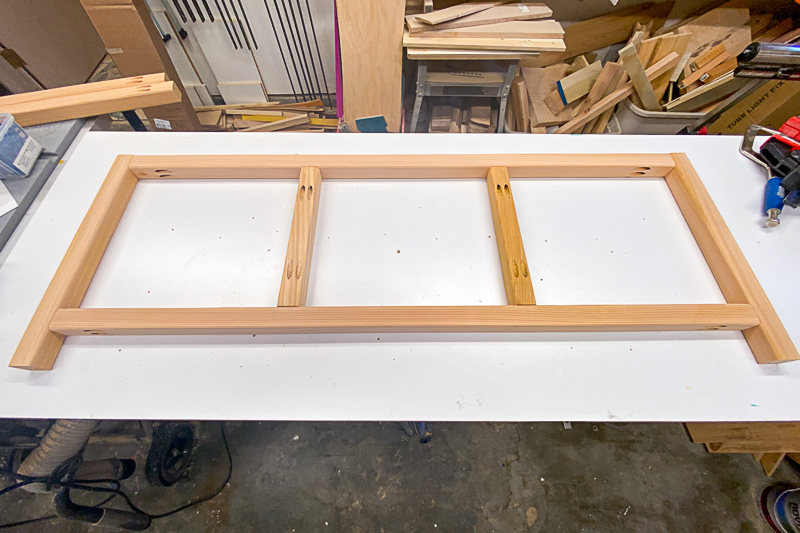 side frame of DIY outdoor storage box