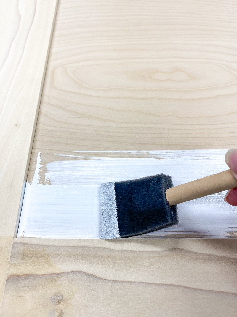 painting DIY cabinet doors