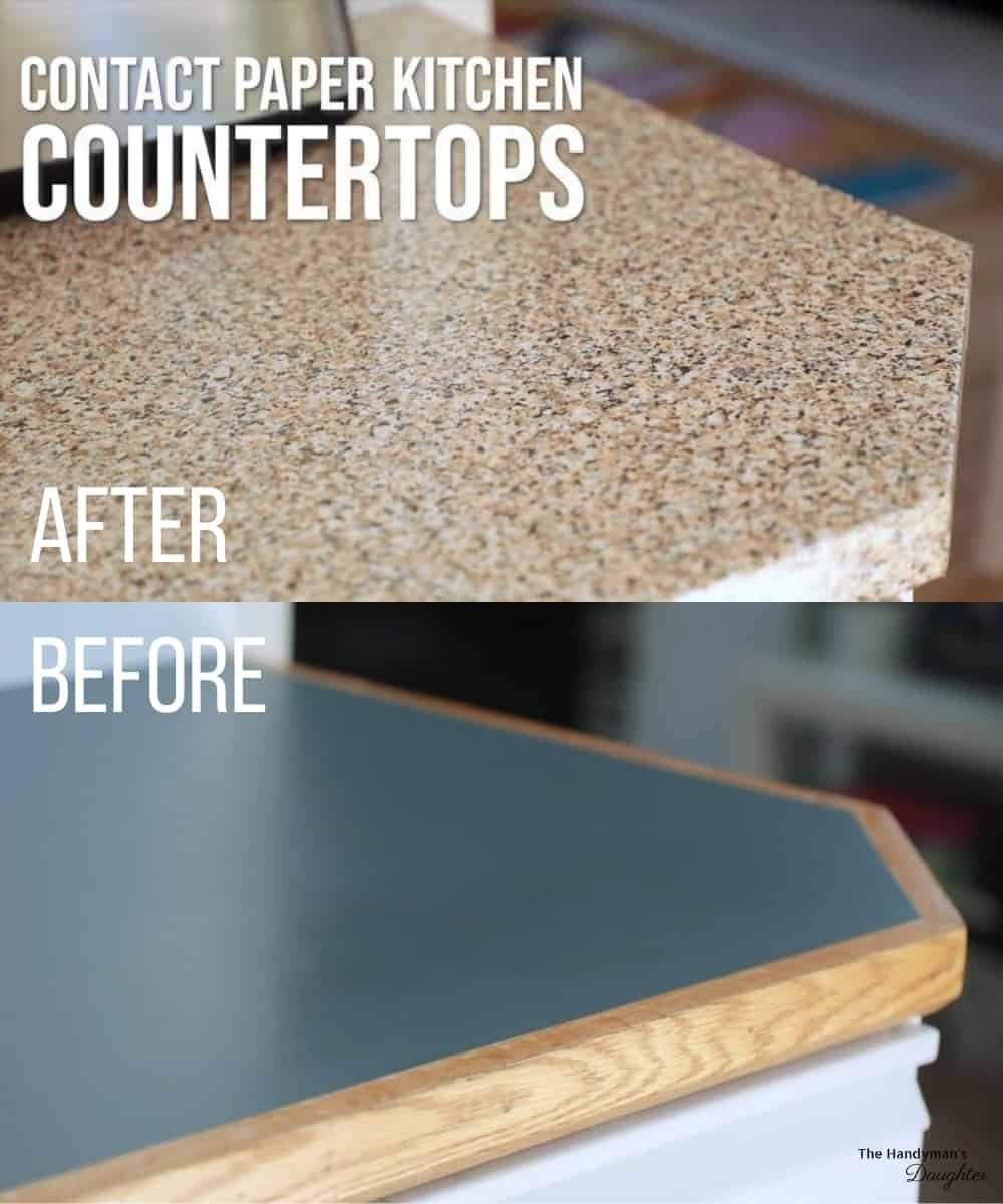 countertop contact paper before and after